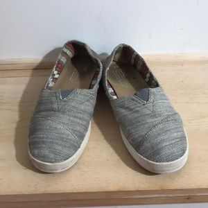 Toms women slip on/Flats Shoes Size W9 Color Gray